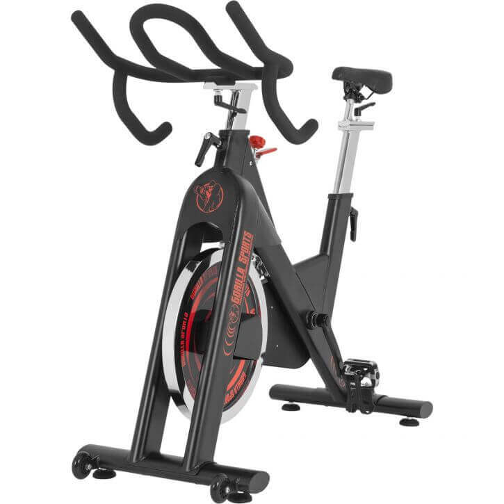Gorilla Sports Video cardioeinheit, cardio training frauen, gorilla sports spinning bike, gorilla sports indoor cycling mit tretlager f50x100, gorilla sports cycling bike, gorilla sports profi fahrrad,